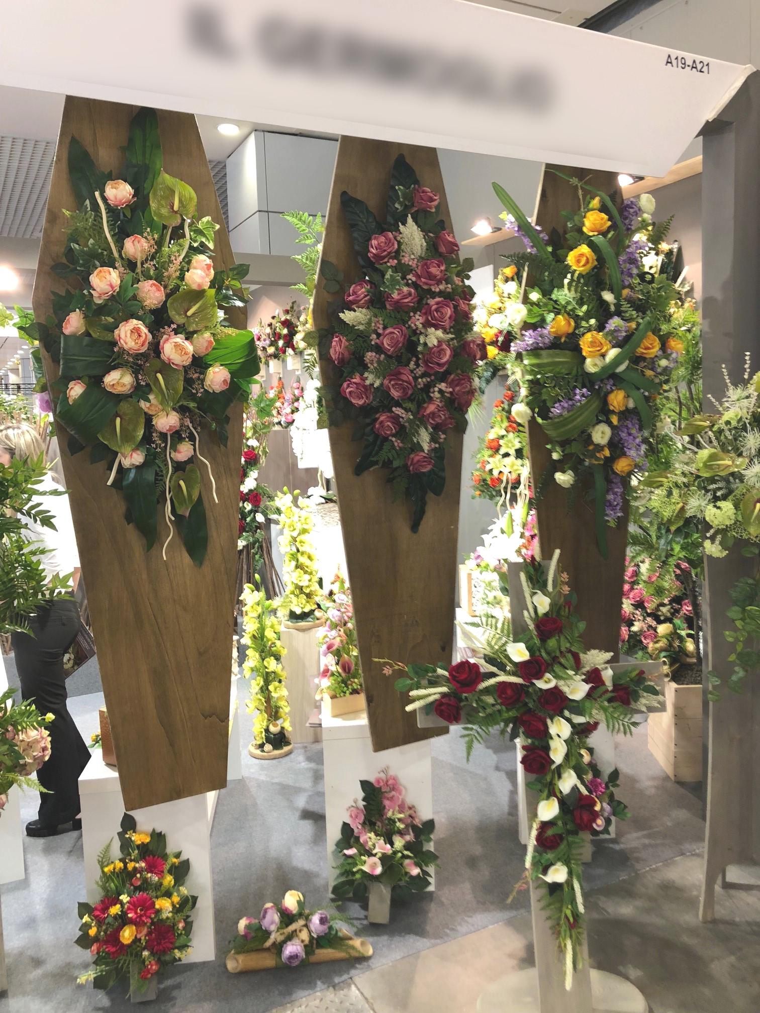 fiori finti funerale